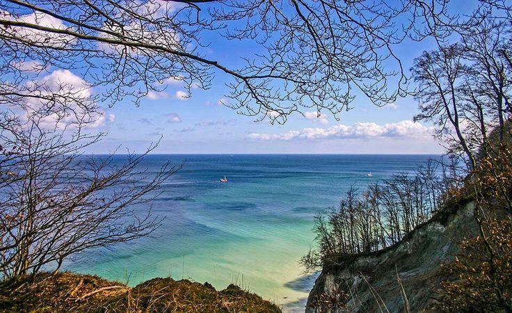 Insel Rügen - Kreideküste (Am Kieler Bach gibt es einen Aufstieg zum Hochufer)