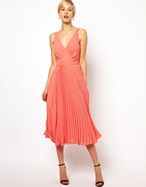 Wedding Guest Dresses Mango Pleat And Wrap Midi Dress 120