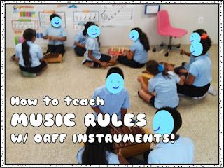 SillyOMusic: Elementary Music Class Rules to Sing & Play