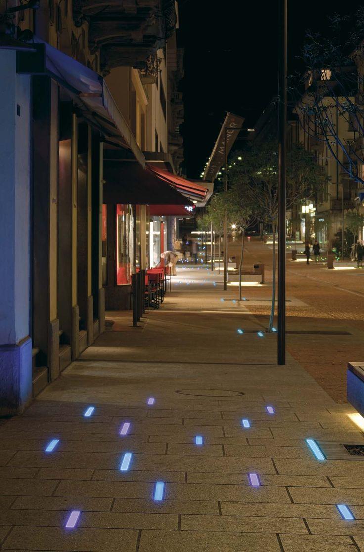 Illuminazione pubblica a LED per Bellinzona lighting design Stefano Dall'Osso 10