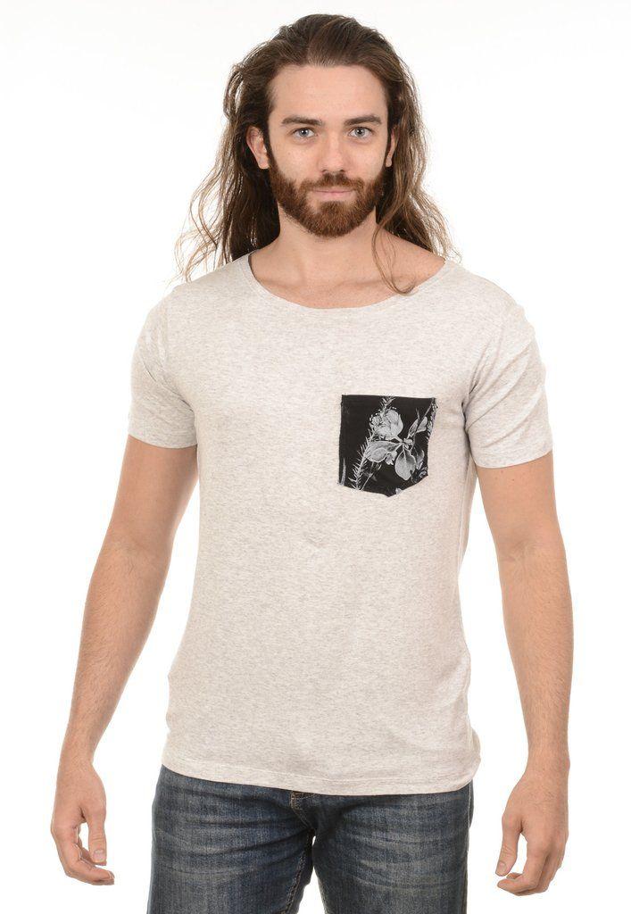 Camiseta Masculina Bolso Floral