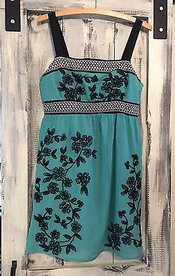 Women's Bohemian Embroidered Anthropology Dress Size Small  | eBay