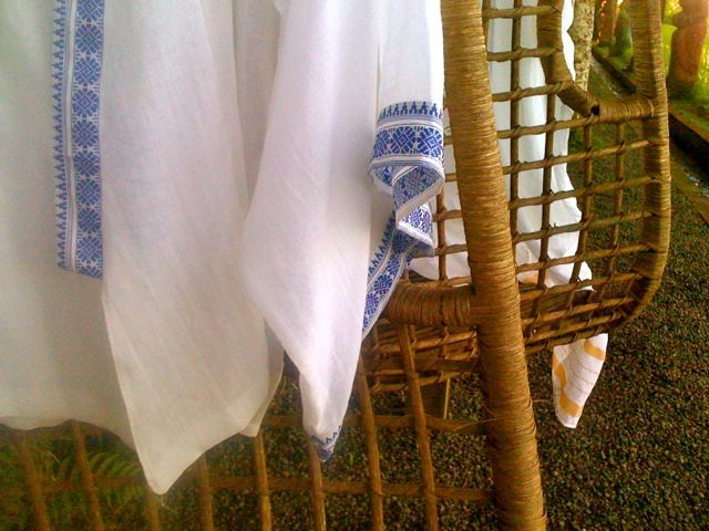 Indian sari cloth worked into a kimono inspired style. My favourite piece. Simple Luxury. Made in my Bali village.