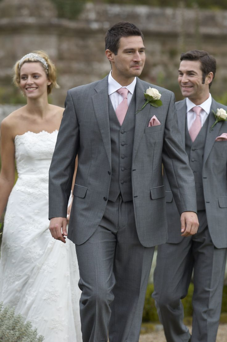 grey suit for wedding | ... grey slim fit suits with matching waistcoats? - Wedding fashion