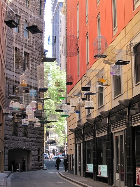 Angel Place laneway art, Sydney