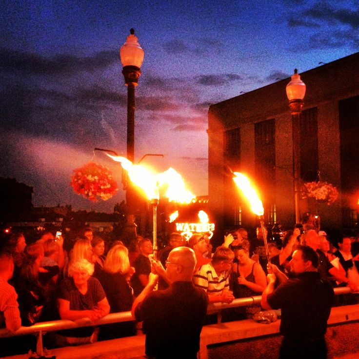 Setting the night on fire at WaterFire Sharon, PA.