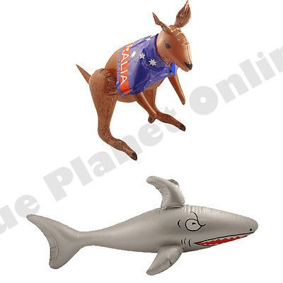 #Inflatable kangaroo & shark australia australian #fancy #dress party decoration,  View more on the LINK: http://www.zeppy.io/product/gb/2/152063772813/