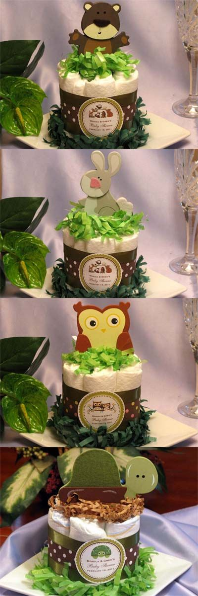 Lmk Gifts Baby Shower Woodland Forest Animals Diaper Cake