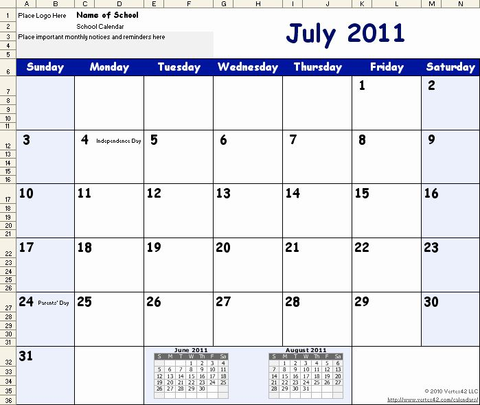 School Schedule Template Word Luxury 2014 Calendar Template For
