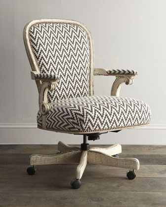 This isn't your average rolling chair: a chevron pattern looks extra chic in rich, neutral shades on this beechwood Old Hickory Tannery Cocoa Chevron Desk Chair ($1,629).