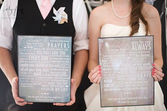 Vows turned into art. one of the cutest things i've ever seen.  Hang that above the bed or somewhere you can see it everyday as a reminder of your love for one another and the promises you made.Wall Art, Daily Reminder, Beds, The Vows, Frames, Cute Ideas, Wedding Vows Art, Cutest Wedding Vows, Vows Turn