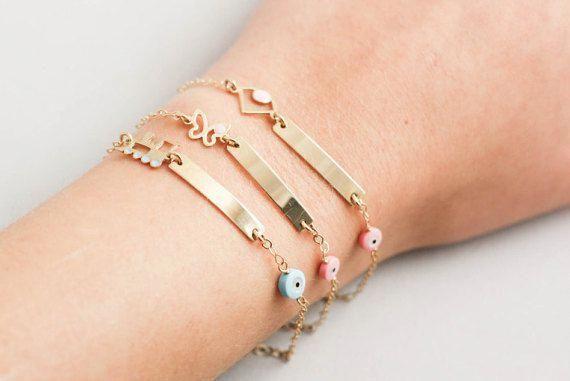 Baby Id Bracelet Newborn Bracelets Personalized Kids Gold Babyjewelry
