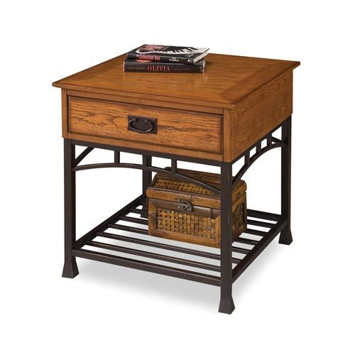 Modern Craftsman Oak End Table Home Styles Furniture End Tables Accent Tables Living Room