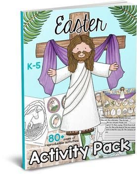 This Bible Easter Activity Pack is filled with Bible games, worksheets, crafts and activity pages you can use to teach your little ones the story of Easter. This set is designed for the K-5 teacher or homeschool family and includes multi age resources to connect with different ages and abilities.Table of Contents:Games:Journey Through Easter Game (Single Page or Double Page)He is Risen Easter Basket GameEaster Bingo 4 in a Row (4 small game boards)Crafts:Easter Story WheelEaster Story…