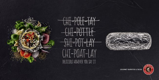 Chipotle's first U.K. Ad Campaign. Mother London cooked up Chipotle's first British campaign with print ads and posters that explain how to pronounce the burrito chain's name.