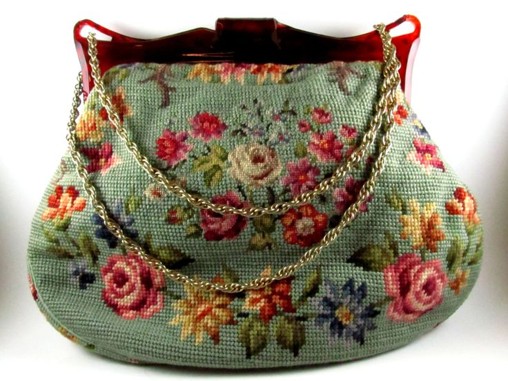 Large Vintage Tapestry Purse