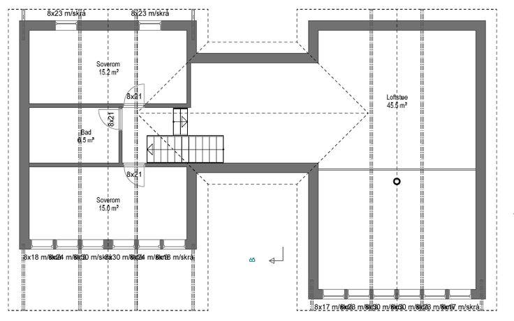 Planløsning loftsetasje - V2