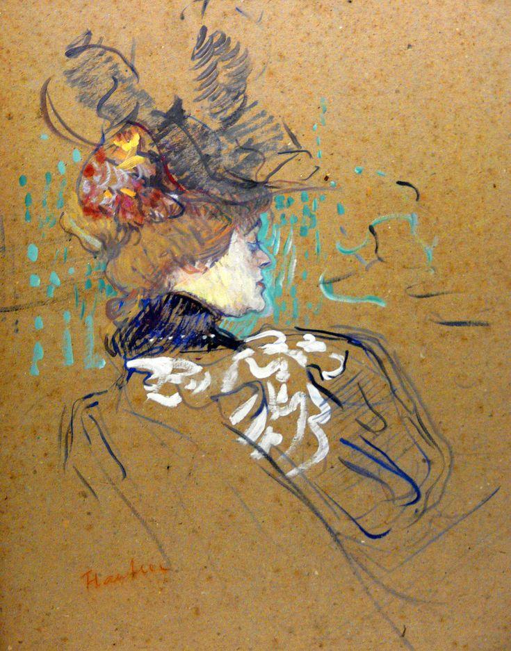 femme de profil madame lucy 1896 i love toulouse lautrec i 39 m going to attempt a painting. Black Bedroom Furniture Sets. Home Design Ideas