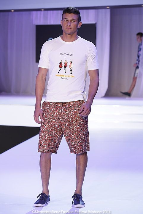 Young menswear designer Otim Ajalia was a stand out in the MBFF Emerging Designers show