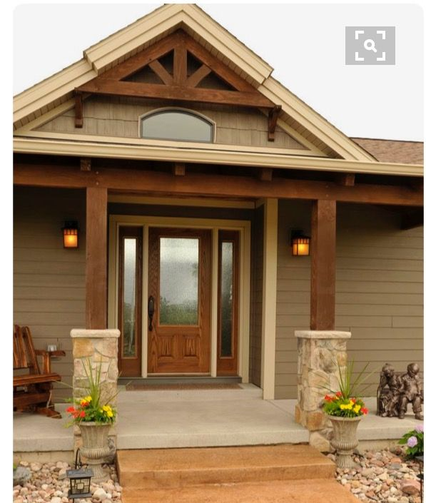 Door and peak match front door pinterest doors porch and house for Matching exterior house paint colors
