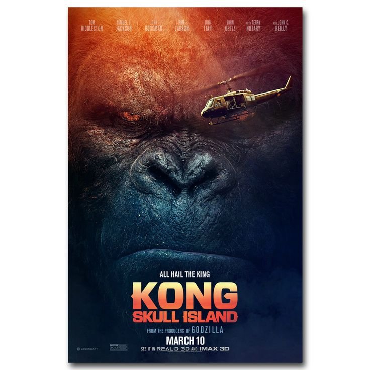 NICOLESHENTING Kong Skull Island King Kong New Movie Art Silk Poster Canvas Print Wall Pictures Home Decoration 002 #Affiliate