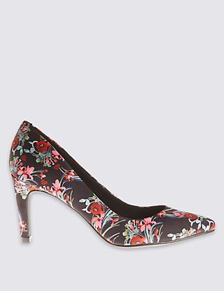 Stiletto Floral Court Shoes Clothing