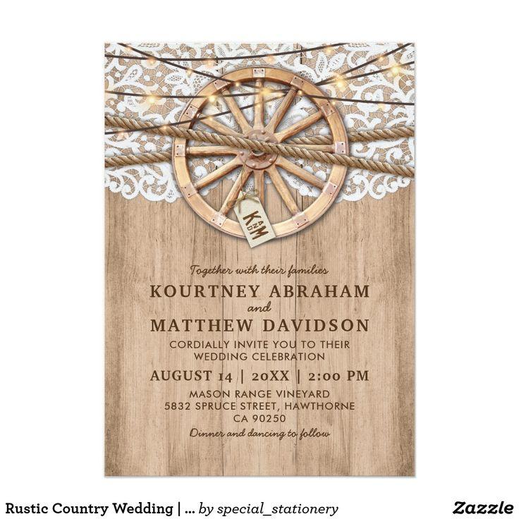 448 Best Rustic Wedding Invitations Images On Pinterest