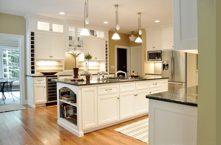Contemporary Custom Kitchen Under cabinet lighting glass doors