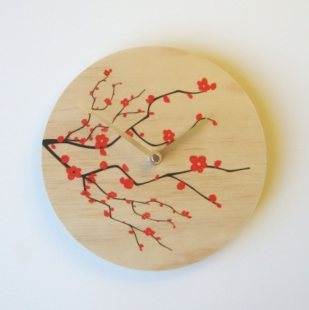Objectify Blossom Wall Clock - hardtofind. $36.00 #hardtofind #clock #time #blossom #flowers