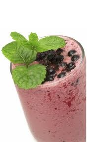Superfood smoothie- Base: spoon of raw honey, spoon of raw coconut oil, pinch of sea salt, handful of cashews or brazil nuts, 2 squirts vanilla stevia.  Add any of following ingredients: 1/2 cup frozen berries, 1.5-2 cups coconut water or nut milk, 2-3 Tbsp of cacao powder, 1-2 tsp goji berry extract powder, handful goji berries, 2-3 tbsp some kinds of seeds (chia, flax, etc), 1-2 tbsp barley, 1 tbsp maca powder, 1-2 tablespoons spirulina, 1 tbsp peanut butter.