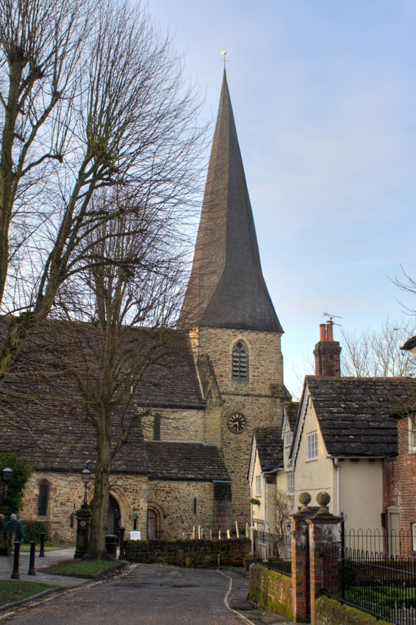 St Mary's Church, Horsham, Sussex. I was christened here, my parents and grand parents were married here.