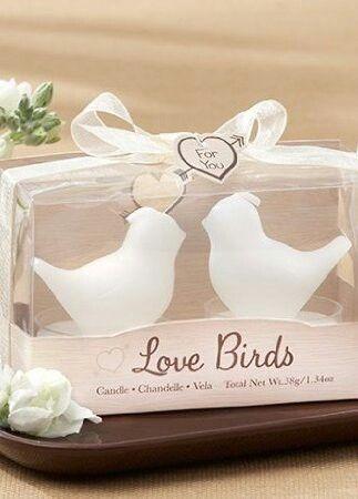 Love birds / recuerdo de boda vela de pajaritos