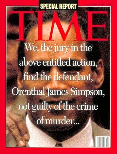 TIME Magazine Cover: O.J. Simpson Verdict -- Oct. 16, 1995