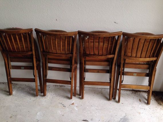 Vintage Stakmore Folding Table And Chair Set Is Ideal For Card Table, Game  Table,