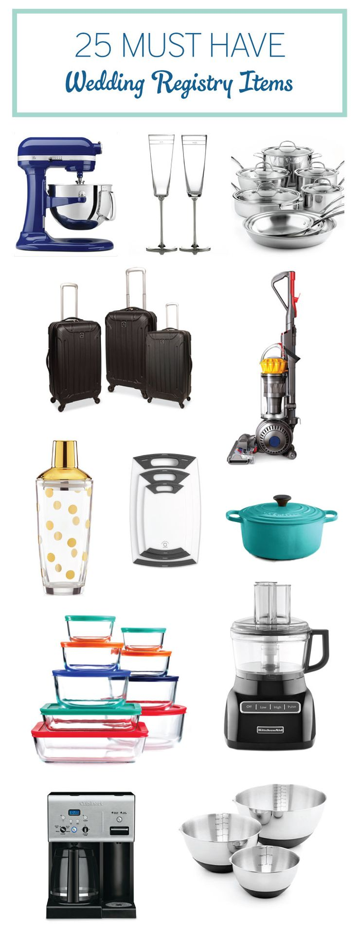 25 Must Have Wedding Registry Items