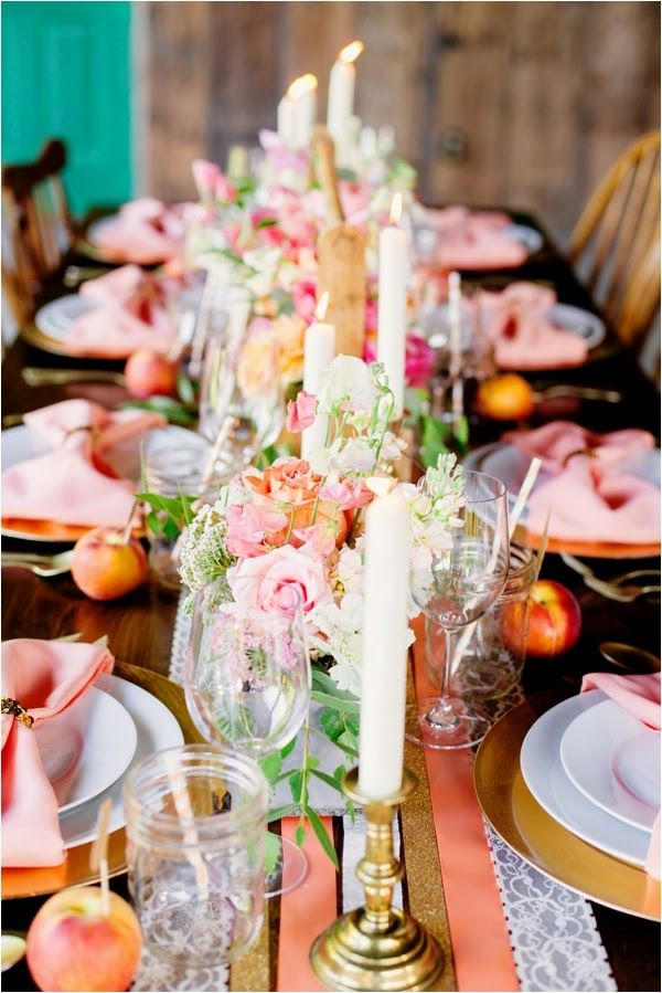 Le Magnifique Blog: Wedding & Travel Inspiration : Peach and Gold Wedding Inspirational Shoot by Gabriela Ines Photography <3 themarriedapp.com hearted <3