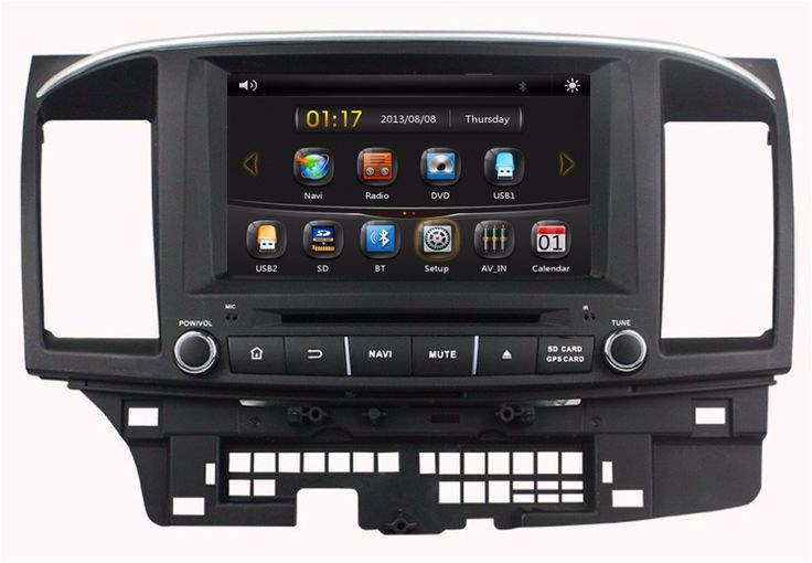 """HD 2 din 8"""" Car DVD GPS Navigation for Mitsubishi LANCER 2014 2015 With PC Bluetooth IPOD TV Radio /RDS AUX IN USB"""