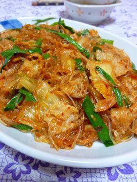 **豚キムチ春雨**簡単早業cook by rie-tin [クックパッド] 簡単おいしいみんなのレシピが153万品