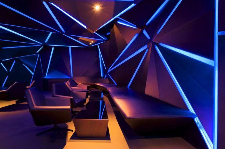 Set Sustainable Light On Your Home With Led Bulbs  Blue bar, Bar interior an...