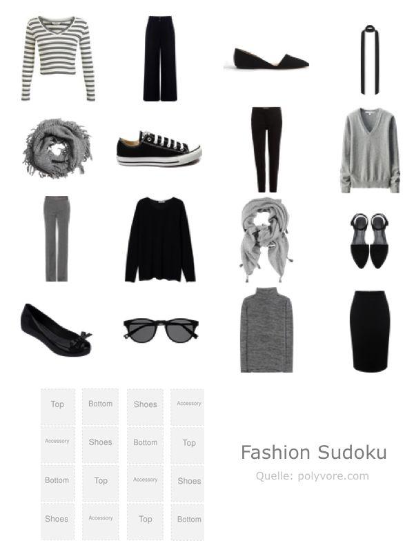 Fresh Tolle Idee bei schneiderherz blogspot de ein Kleiderschrank Sudoku F r die