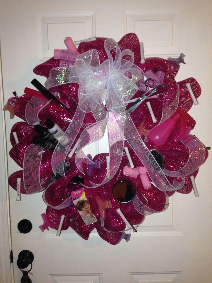 Hairdresser wreath                       LOVE!!!!!