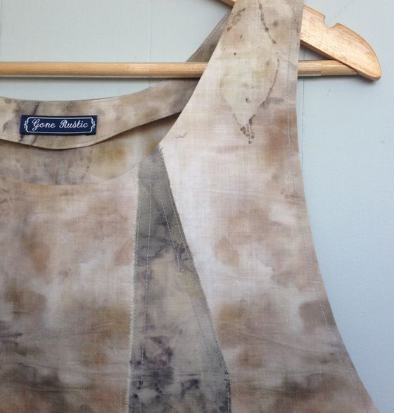 Image of eco dyed cotton top 3 - new couture by rita summers