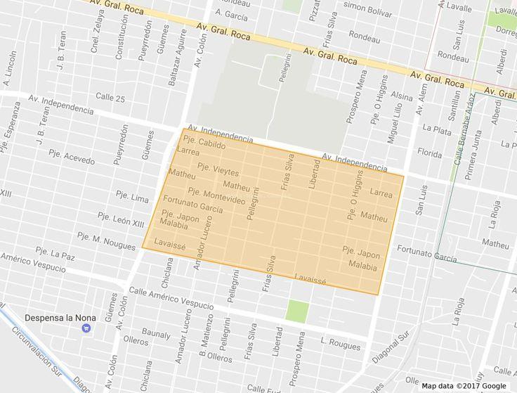 Mapa del Barrio Victoria en San Miguel de Tucuman