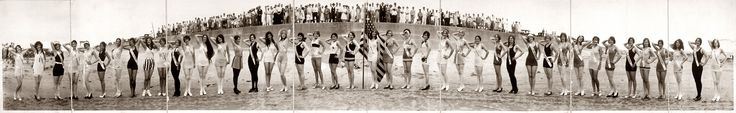 Peep these Panoramic Prints: Bathing Girls of the 1920s. Click link for Full Sized Image!