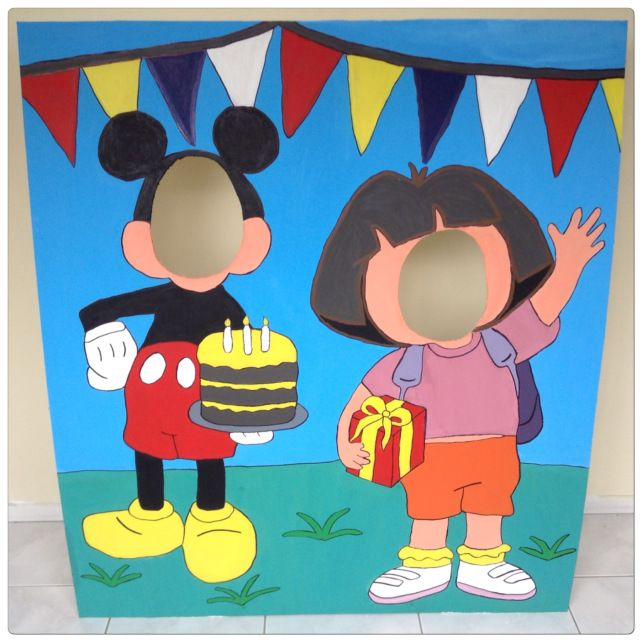 80 best diy face in the hole board images on pinterest carnival mickey mouse and dora the explorer photo booth mickey birthdaybirthday bashbirthday party ideasdiy solutioingenieria Choice Image