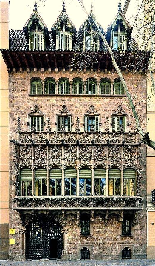 Palau del Baro de Quadras (Casa Asia) - Location: Barcelona, Eixample district - Architect:  Josep Puig i Cadafalch