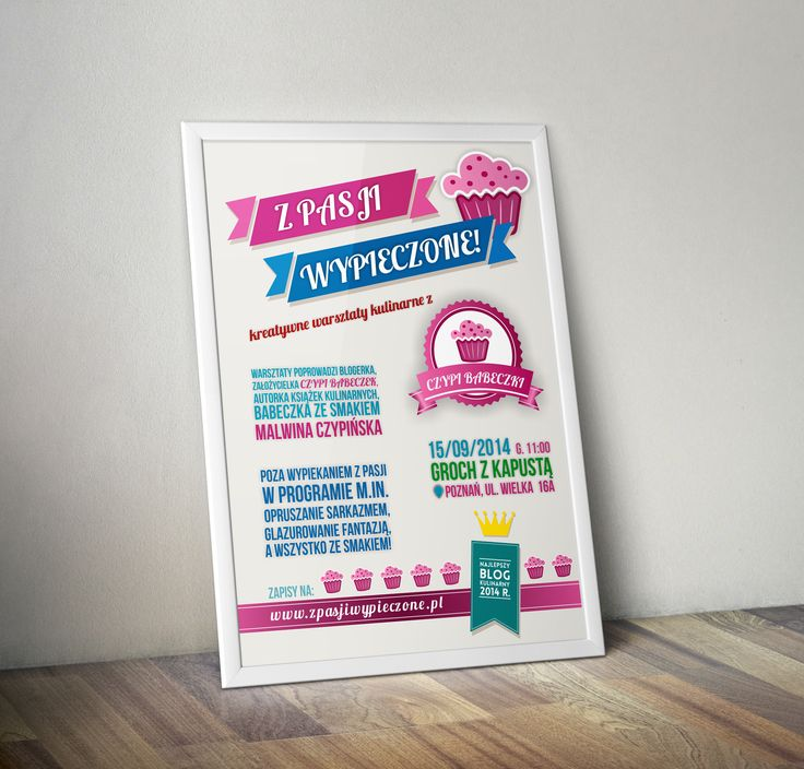 culinary workshops poster