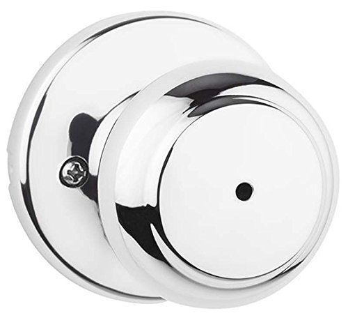 Kwikset 300CV 26 6AL RCS Cove Bed/Bath Knob, Polished Chrome #Kwikset