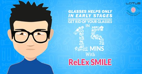 Get rid of your spectacles in 15 minutes. #ReLEx_SMILE is the most advanced Laser vision correction treatment. First time in Kerala, Only at Lotus Eye Hospital Kochi.