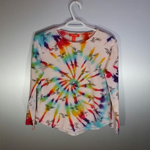 Tie Dye Bird Top Rainbow Spiral Medium/Large Twitter Festival Outfit Tumblr Style Hippie Fashion Rave Clothes Bohemian Clothing Summer Vibes Etsy shop https://www.etsy.com/ca/listing/586951788/tie-dye-bird-top-rainbow-spiral
